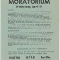 1970-04-15 Vietnam Moratorium Flyer