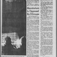 "1969-10-16 Daily Iowan Article: """"University Pauses for Moratorium"""" Page 4"