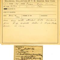 Thomas Wilmer Dewing, egg card # 131