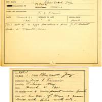 Thomas Wilmer Dewing, egg card # 384