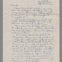 1942-09-22 Laura Davis to Lloyd Davis Page 1