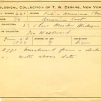 Thomas Wilmer Dewing, egg card # 163