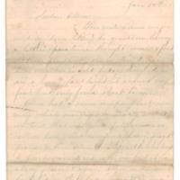 Milton Mowrer correspondence to Ellen Mowrer, 1866-1868