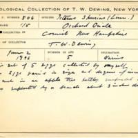 Thomas Wilmer Dewing, egg card # 410