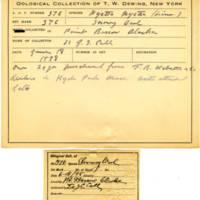 Thomas Wilmer Dewing, egg card # 259