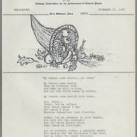 1968-11-14 Newsletter, Fort Madison Branch of the NAACP Page 1