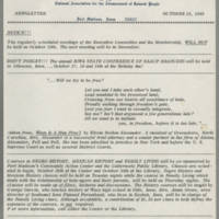 1969-10-16 Newsletter, Fort Madison Branch of the NAACP Page 1