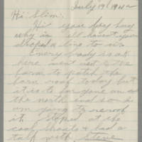 1942-07-19 George Davis to Lloyd Davis Page 1
