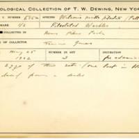 Thomas Wilmer Dewing, egg card # 549