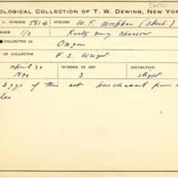 Thomas Wilmer Dewing, egg card # 699u