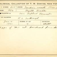 Thomas Wilmer Dewing, egg card # 527