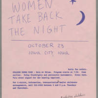 1982-10-23 Women Take Back The Night Rally for Safety