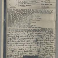 1943-05-21 Laura Davis to Lloyd Davis Page 1