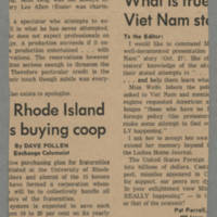 1965-10-30 Article: 'Local SDS Supports ROTC Blood Drive' Page 2