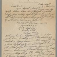 "1946-01-11 Pfc. Milo F. """"Franny"""" Ralston to Dave Elder Page 1"