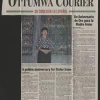 """2006-07-14 Ottumwa Courier Article: """"""""Un Aniversario de Oro para la Madre  Irene"""""""""""