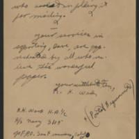 1945-05-13 R.K. Ward to Dave Elder Page 3