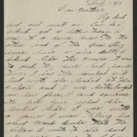 Francis McDermott correspondence, July-December 1917