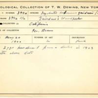 Thomas Wilmer Dewing, egg card # 281