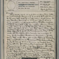 1943-04-14 Laura Davis to Lloyd Davis Page 1