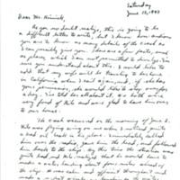 Nile Kinnick airplane crash correspondence, 1943-1972