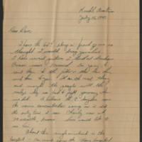 1945-07-15 Pfc. Don Crossett ti Dave Elder Page 1