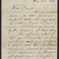 1861-05-12 William E. Thorpe to Alfred Thorpe Page 1