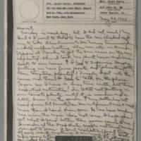 1943-05-24 Laura Davis to Lloyd Davis