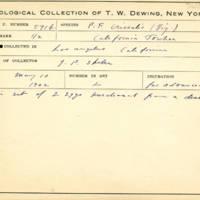 Thomas Wilmer Dewing, egg card # 703u