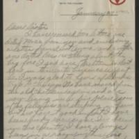 1918-01-27 Harvey Wertz to Eloise Wertz Page 1
