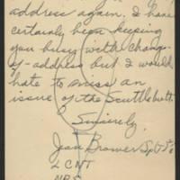 1945-06-11 Jean Brower to Dave Elder Postcard