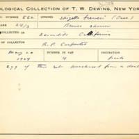 Thomas Wilmer Dewing, egg card # 693u