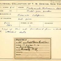 Thomas Wilmer Dewing, egg card # 754u