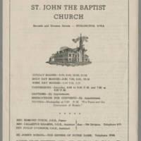1947-10-26 Bulletin: St. John The Baptist Church Page 1