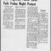 """1972-05-13 Iowa City Press-Citizen Photo: """"""""New Highway Patrol Tactic Foils Friday Night Protest"""""""" Page 2"""