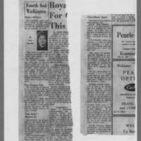 1964-10-04 Burlington Hawk-Eye Article: Fourth and Washington