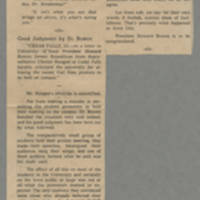"1965-10-26 Washington Evening Journal Editorial: """"Good Judgment by Dr. Bowen"""" Page 1"