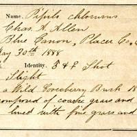 Charles A. Allen, egg cards