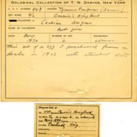 Thomas Wilmer Dewing, egg card # 340