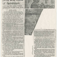 "1982-11-18 San Francisco Examiner Article: ""Hot night on pros and cons of feminism"""