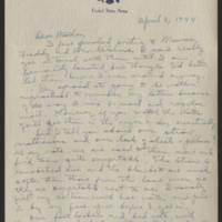 1944-04-02 Helen Fox to Bess Peebles Fox Page 1