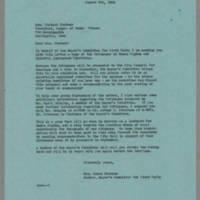 1964-08-06 Mrs. James Schramm to Mrs. Richard Fortner