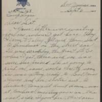 1917-09-06 Harvey Wertz to Miss Dorothy Wertz Page 1