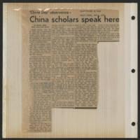 1971-11-04 'China Scholars speak here'