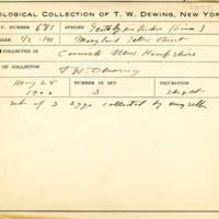 Thomas Wilmer Dewing, egg card # 787u