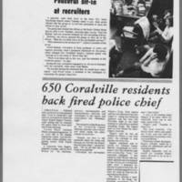 """1972-05-10 Daily Iowa Article: """"""""Peaceful sit-in at recruiters"""""""""""