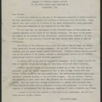 1947-10-23 Message from Albert Einstein to the Atomic Energy Week Committee of Burlington