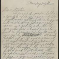 1917-09-17 Harvey Wertz to Miss Eloise Wertz Page 1