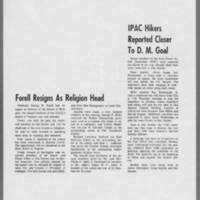 "1971-05-11 Daily Iowan Article: """"IPAC Hikers Reported Closer to D.M. Goal"""""
