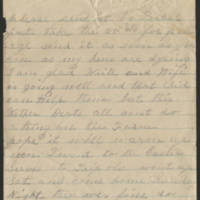 Letter from E. Snelling Page 1